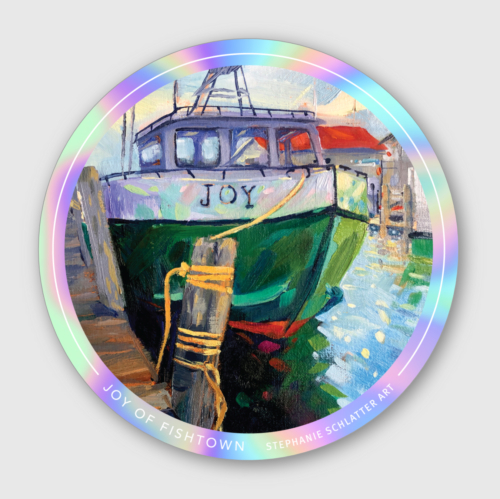 Fishtown sticker by Stephanie Schlatter Art
