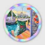 Fishtown sticker by Stephanie Schlatter Art