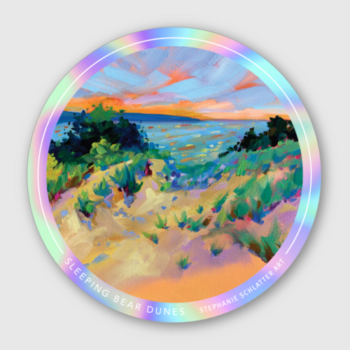 Sleeping Bear Dunes sticker by Stephanie Schlatter Art