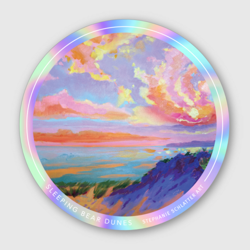 Sleeping Bear Dunes sticker by Stephanie Schlatter