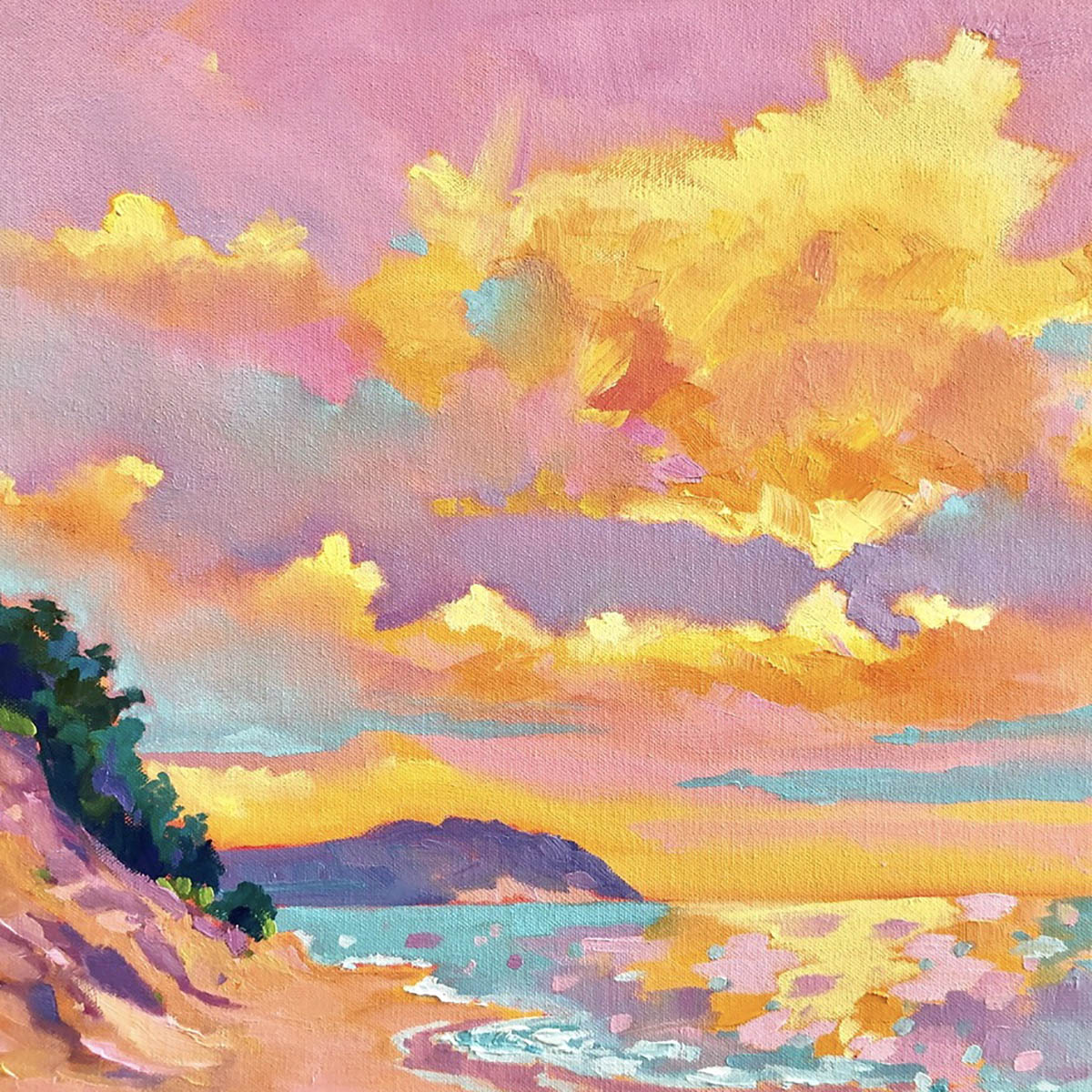 Call Me the Breeze - Painting by Stephanie Schlatter
