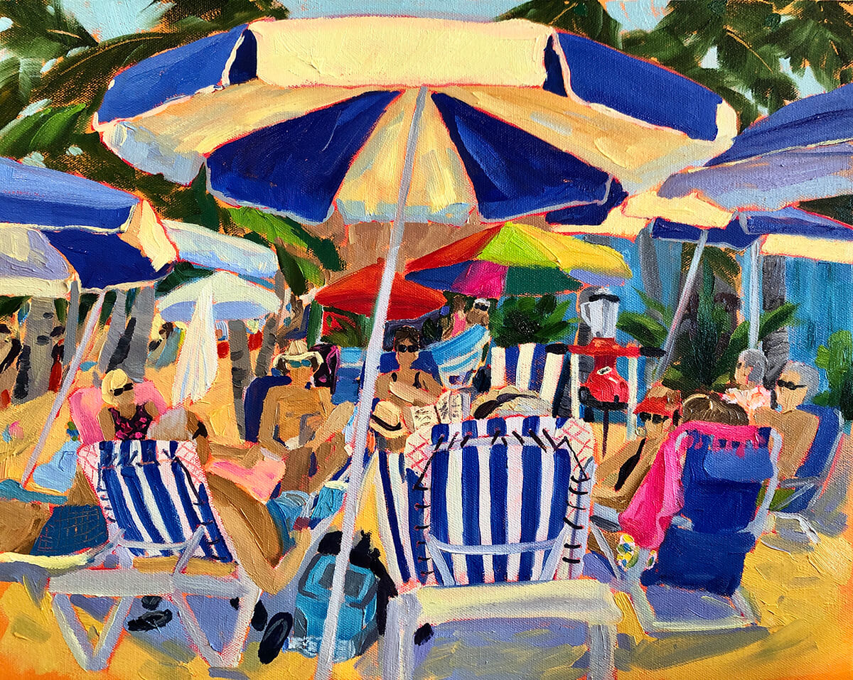 It's 5 O'clock Somewhere - Painting by Stephanie Schlatter