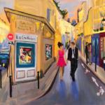 La Vie en Rose - Painting by Stephanie Schlatter