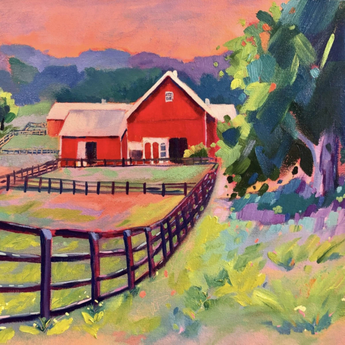 Summer Days - Painting by Stephanie Schlatter