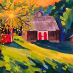 Sunburst Nights - Painting by Stephanie Schlatter