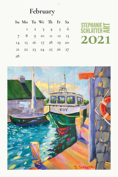 Schlatter February 2021 wall calendar