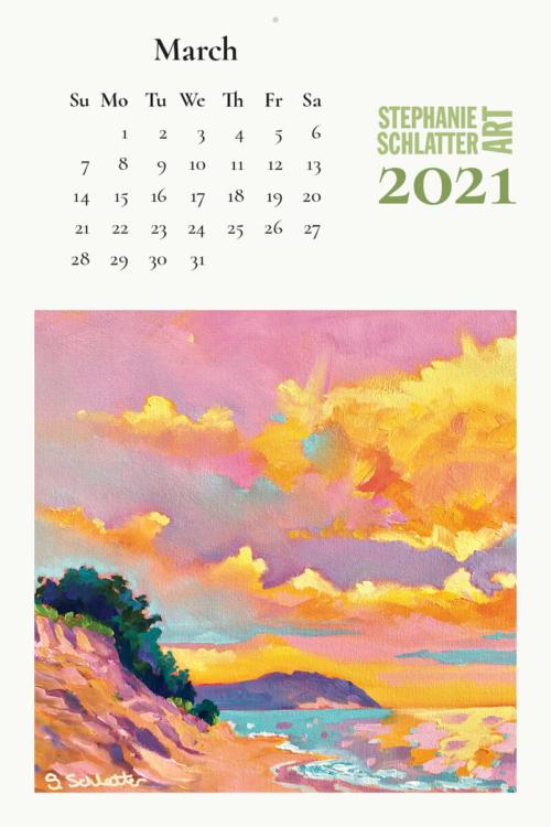 Schlatter March 2021 wall calendar