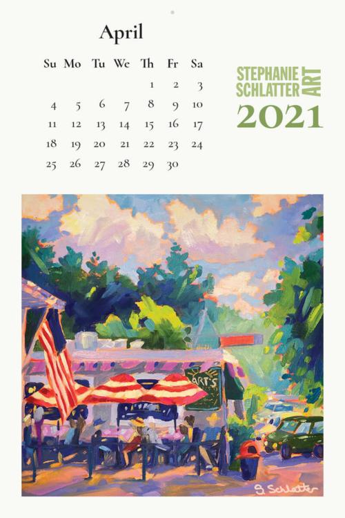 Schlatter April 2021 wall calendar
