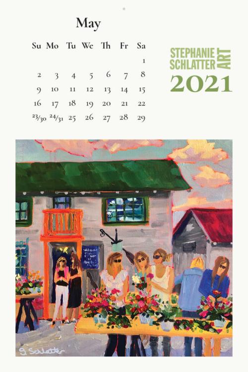 Schlatter May 2021 wall calendar