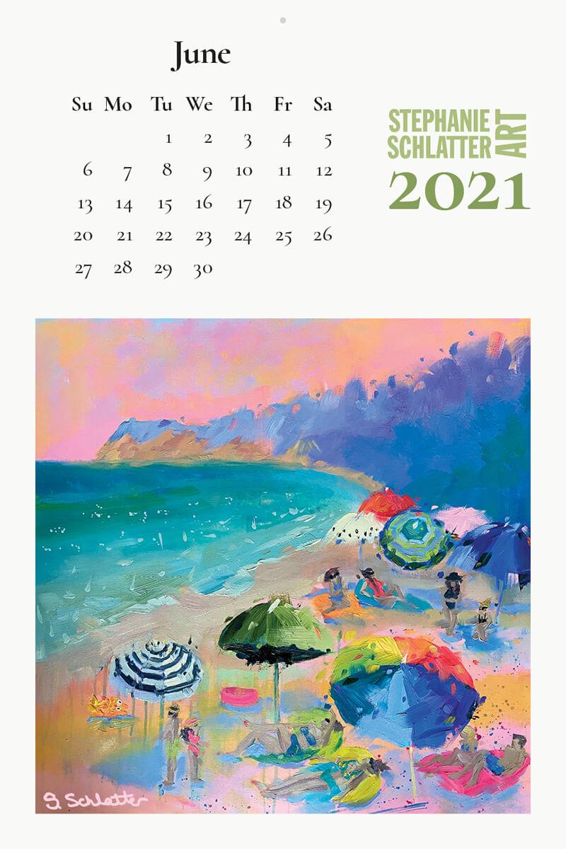 Schlatter June 2021 wall calendar