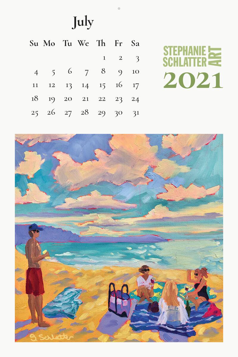 Schlatter July 2021 wall calendar