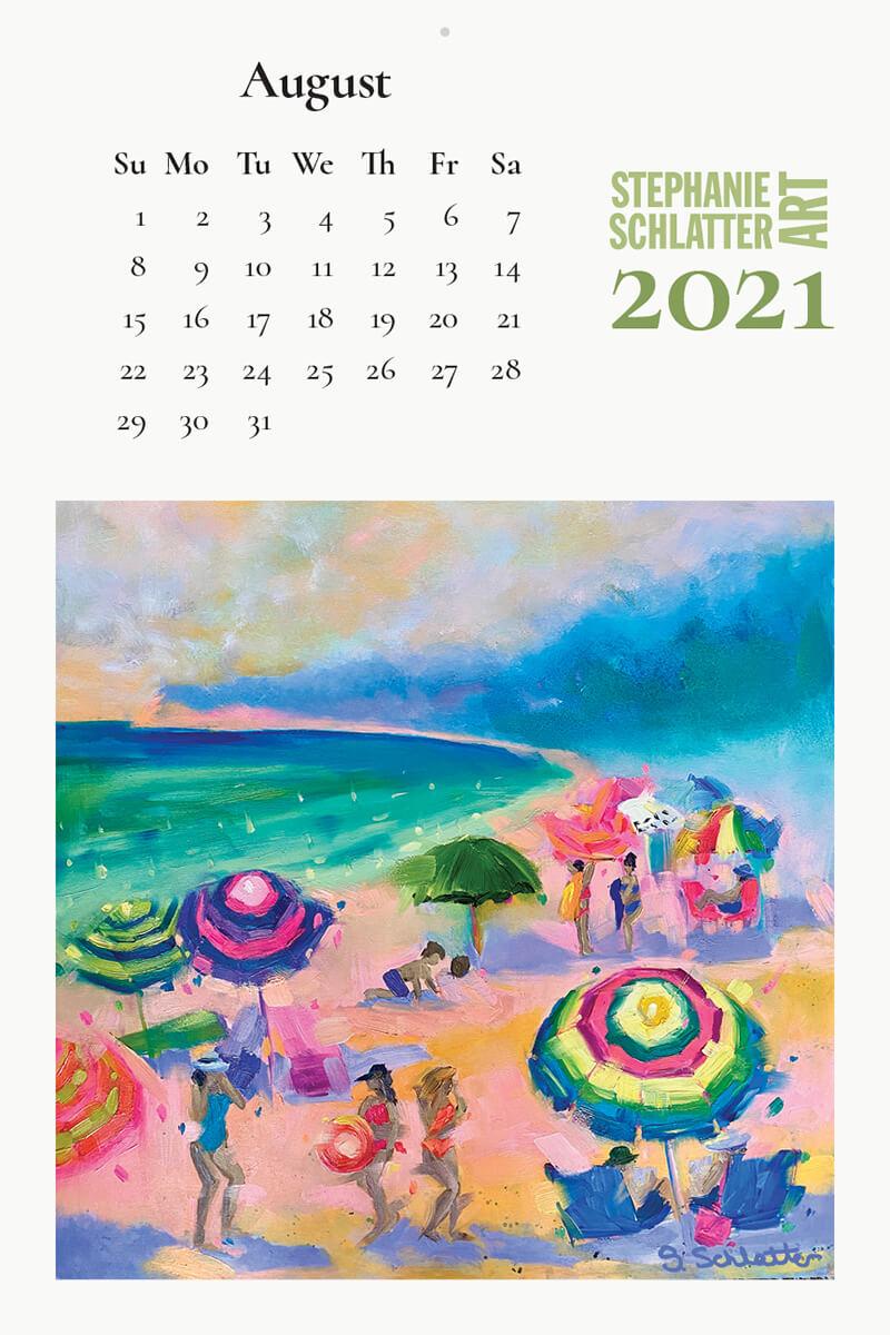 Schlatter August 2021 wall calendar