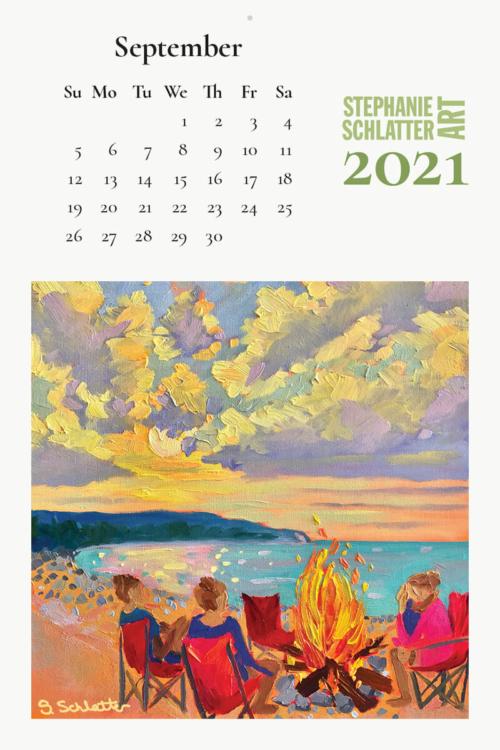 Schlatter September 2021 wall calendar