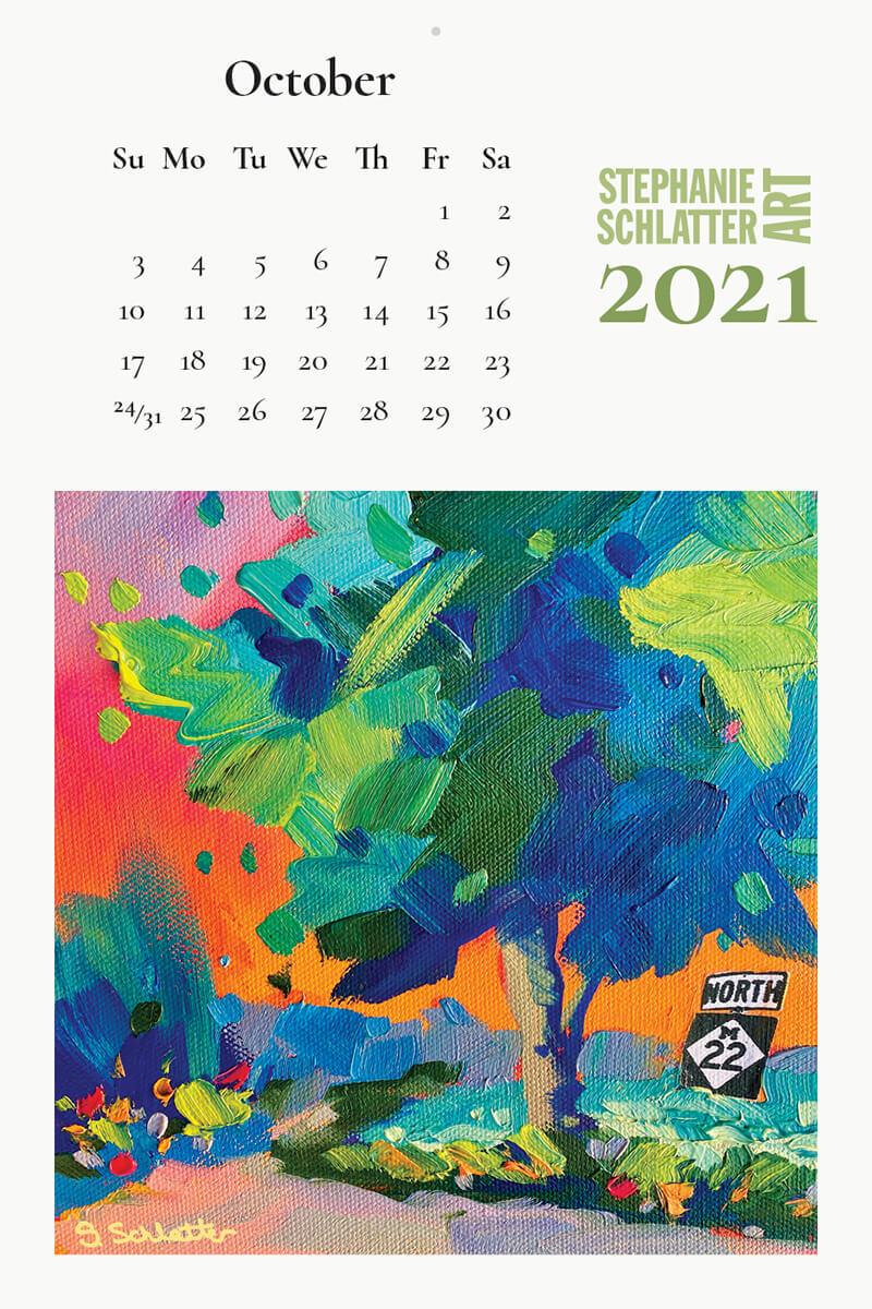 Schlatter October 2021 wall calendar