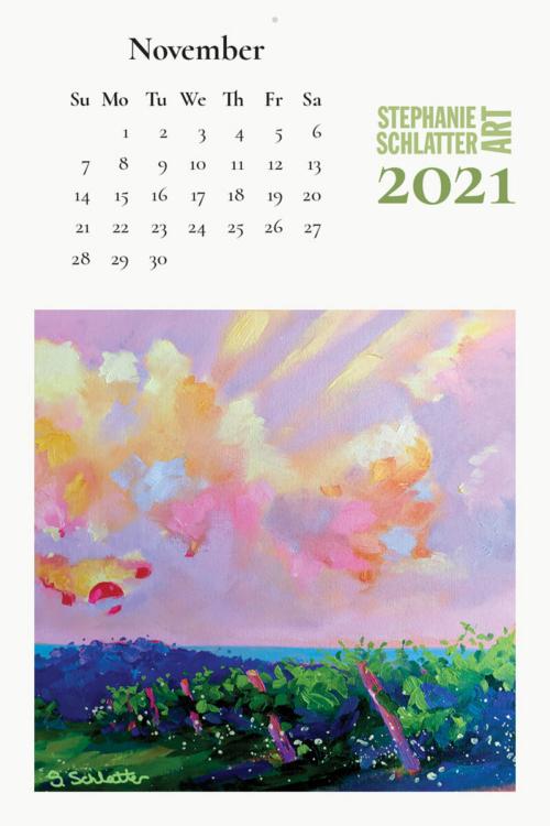 Schlatter November 2021 wall calendar