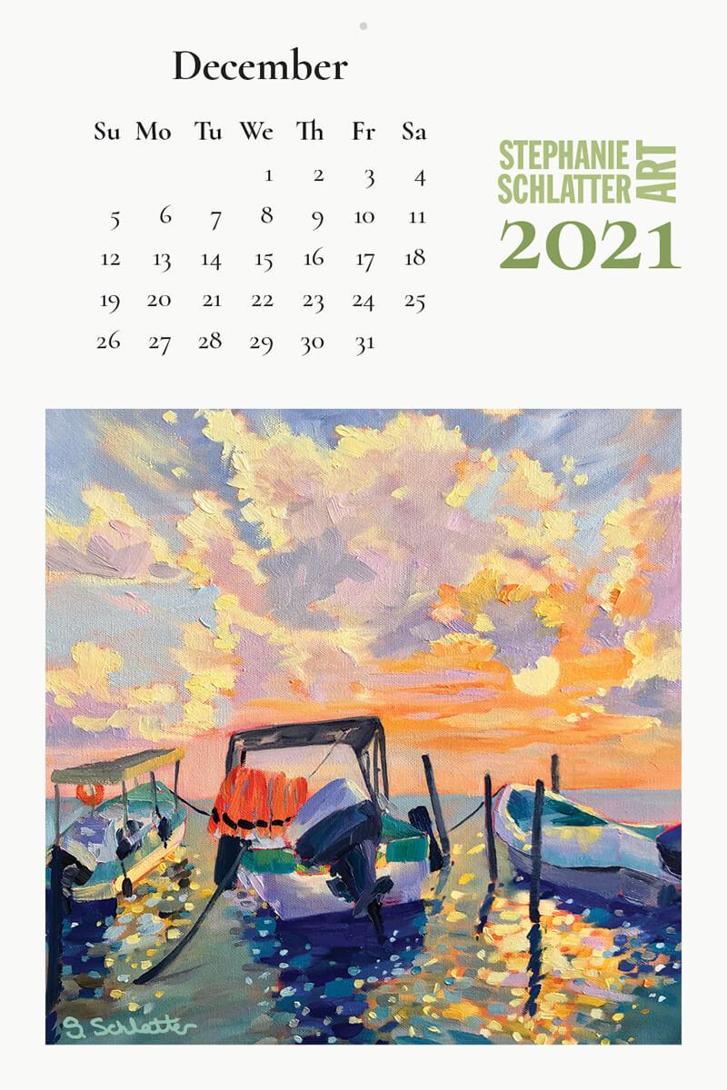 Schlatter December 2021 wall calendar