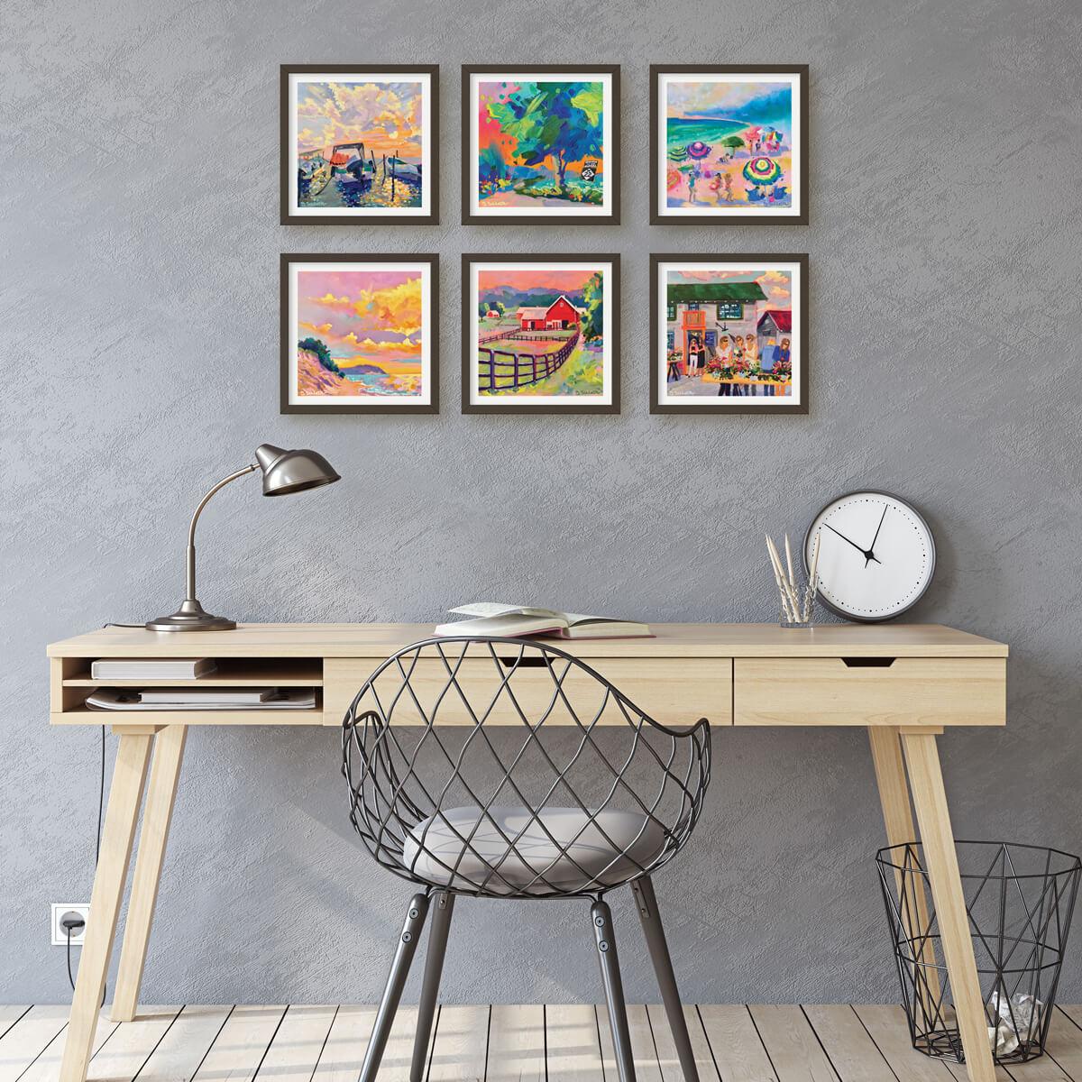 Framed calendar art examples