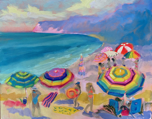Cake by the Ocean painting by Stephanie Schlatter