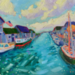 Boat Drinks painting by Stephanie Schlatter