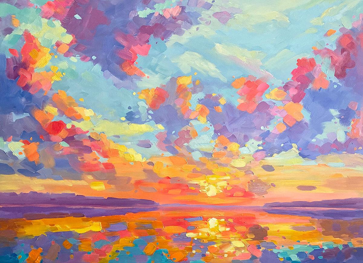 Kaleidoscope Dream painting by Stephanie Schlatter