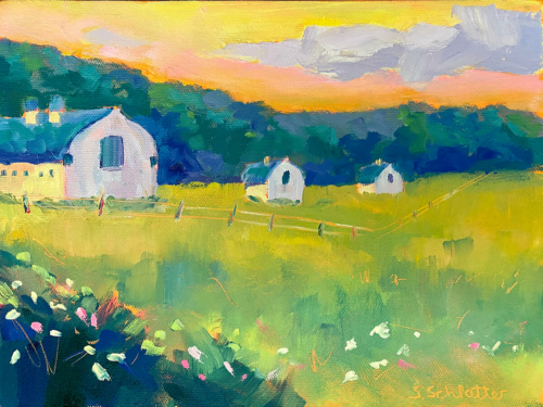 DH Day Midsummer painting by Stephanie Schlatter