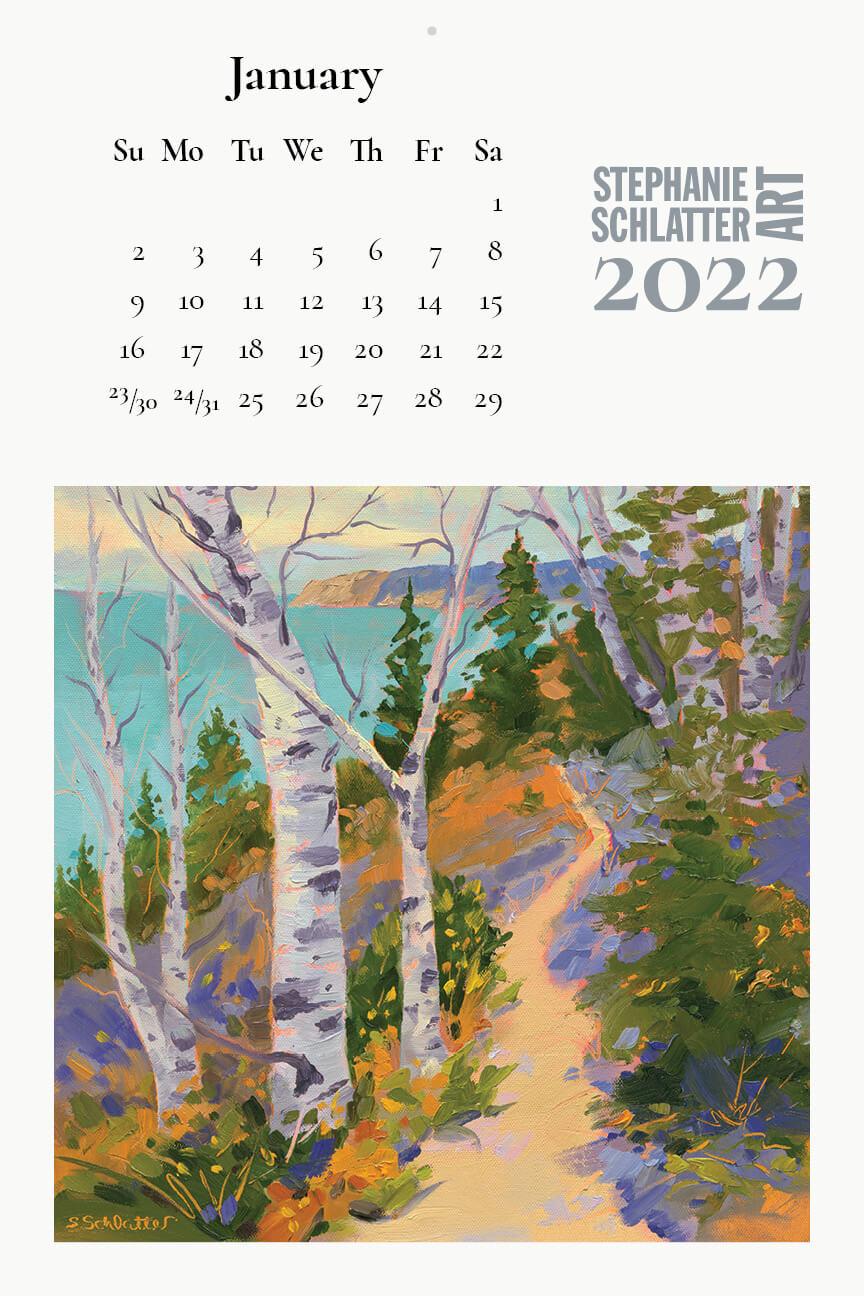 Schlatter January 2022 wall calendar