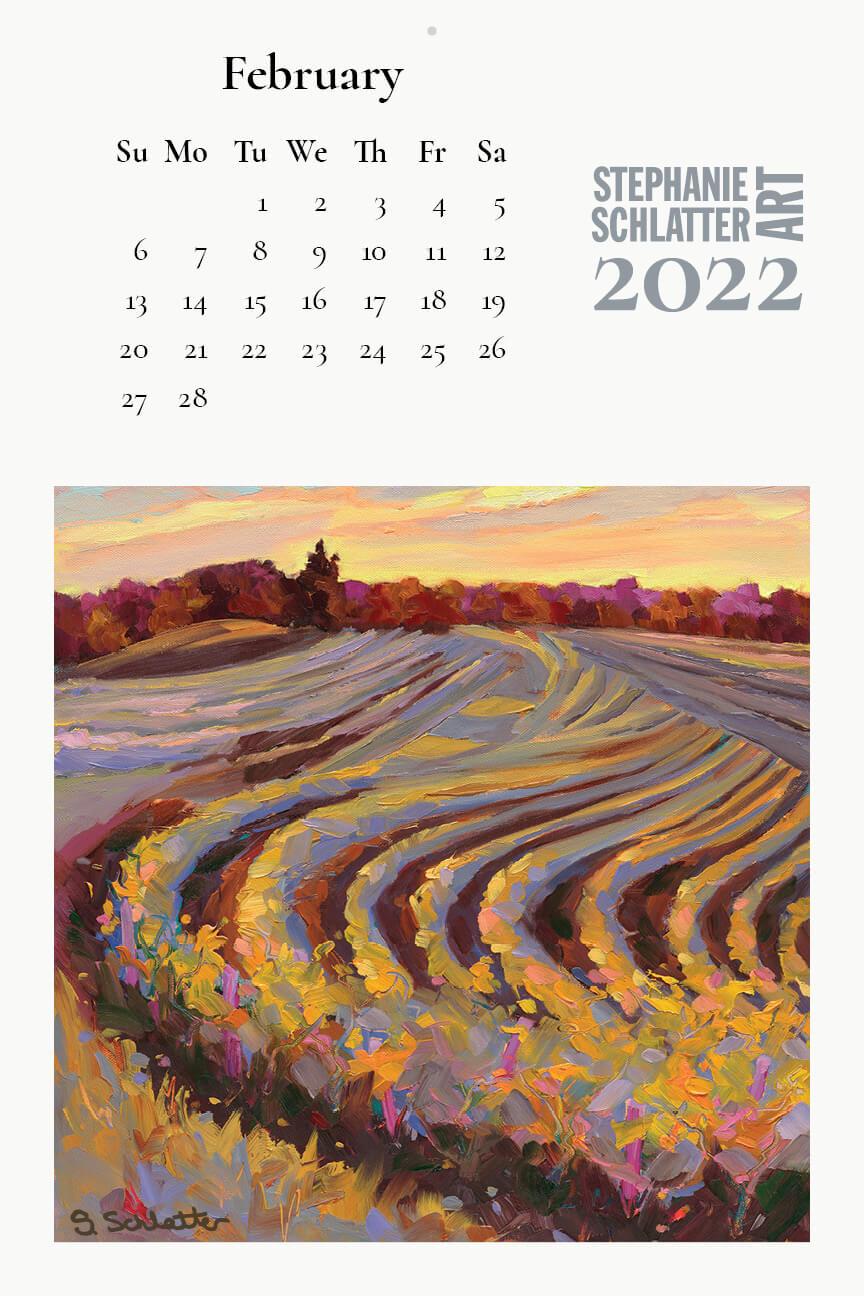 Schlatter February 2022 wall calendar
