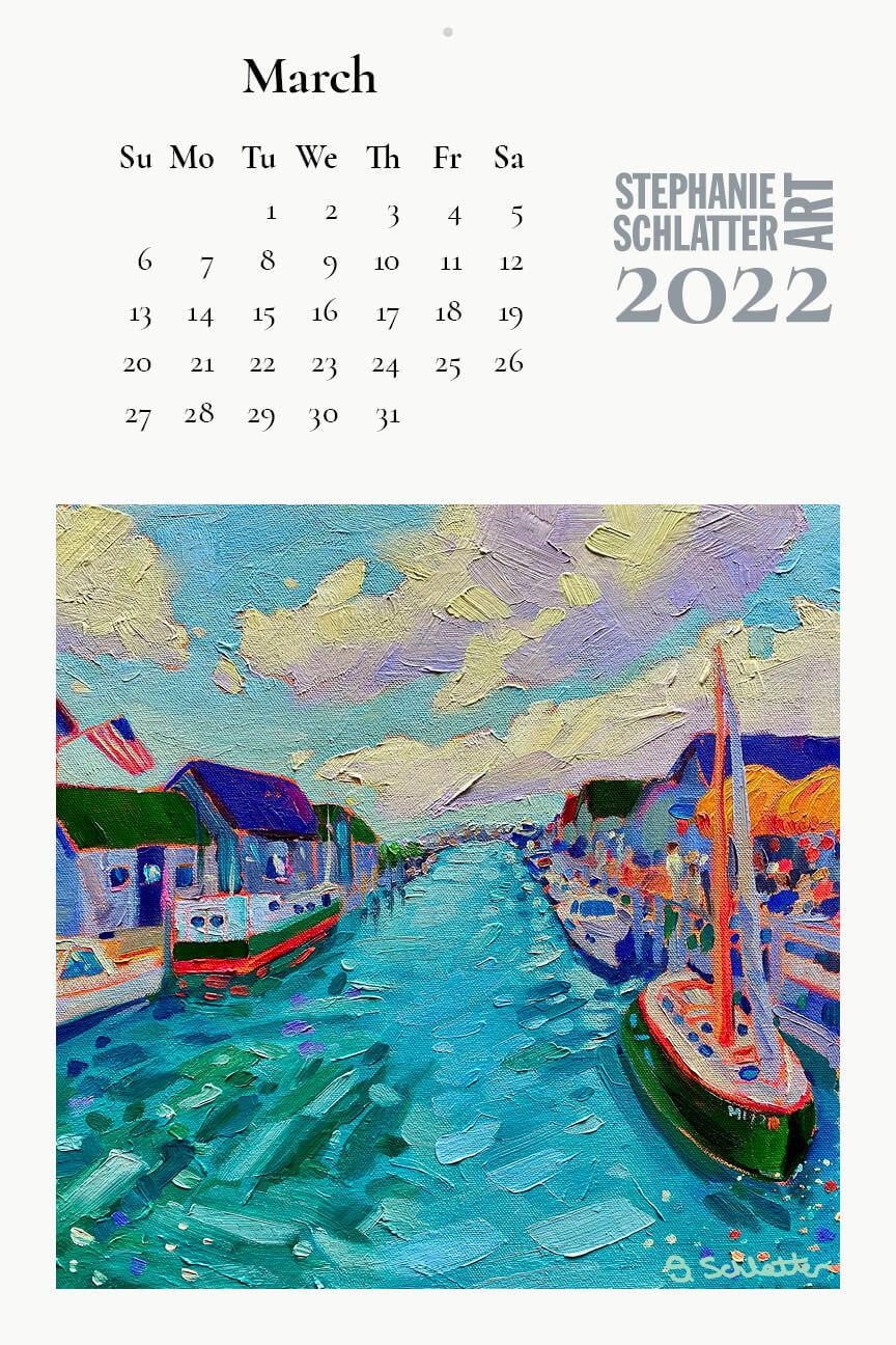 Schlatter March 2022 wall calendar