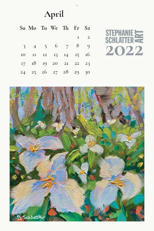 Schlatter April 2022 wall calendar