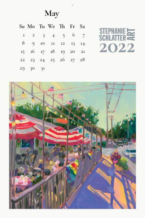 Schlatter May 2022 wall calendar