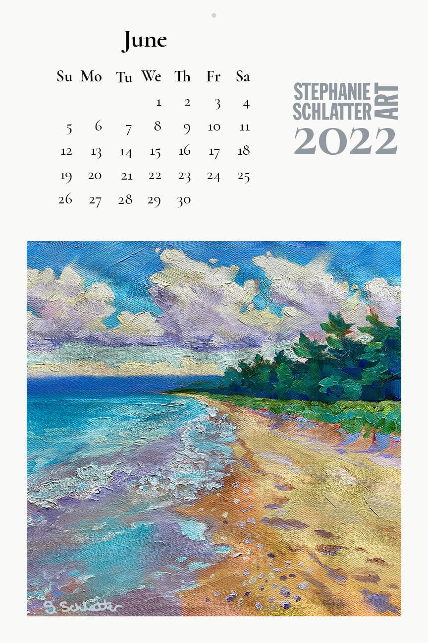 Schlatter June 2022 wall calendar