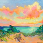 Chase the Sun painting by Stephanie Schlatter
