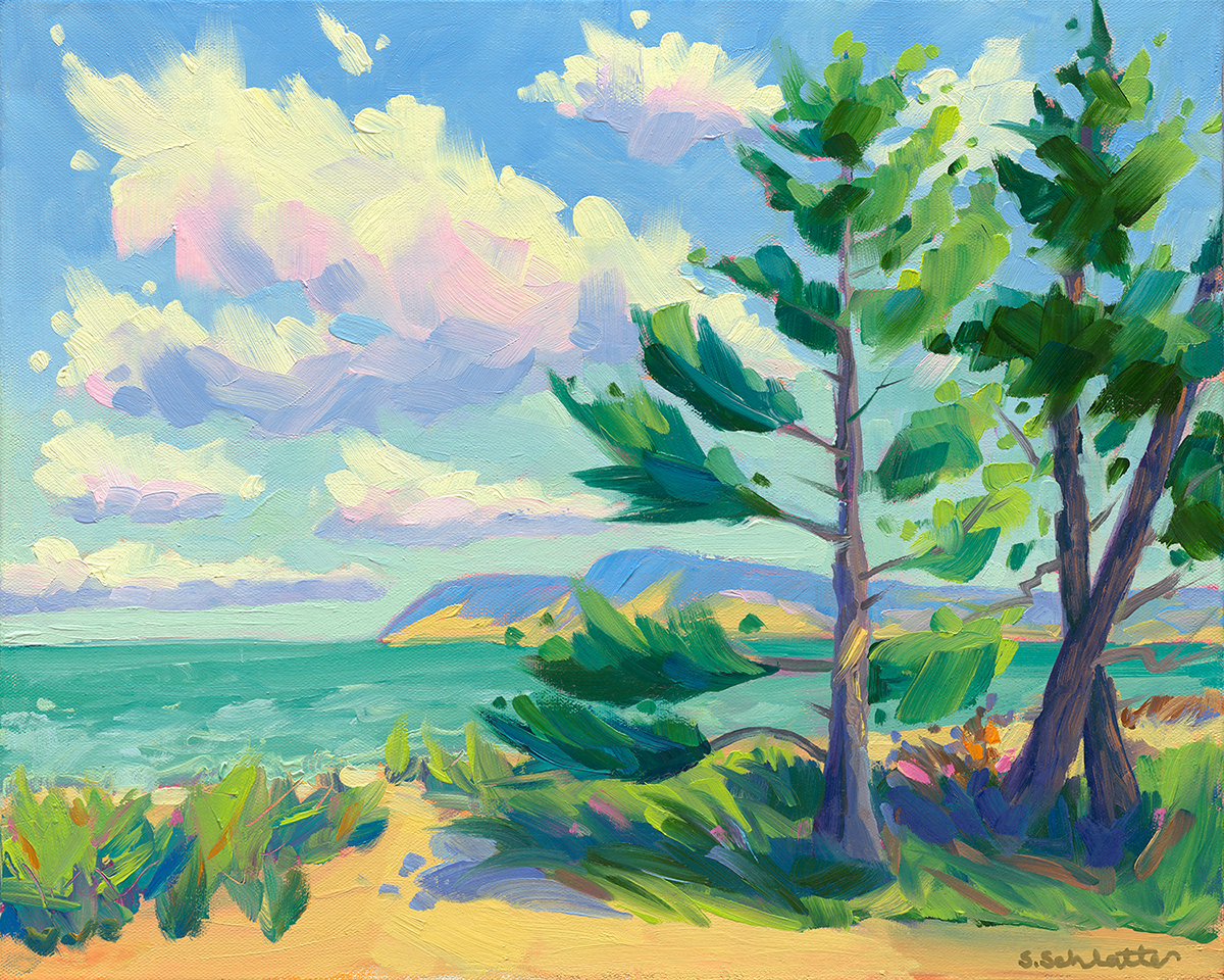 La La Land painting by Stephanie Schlatter