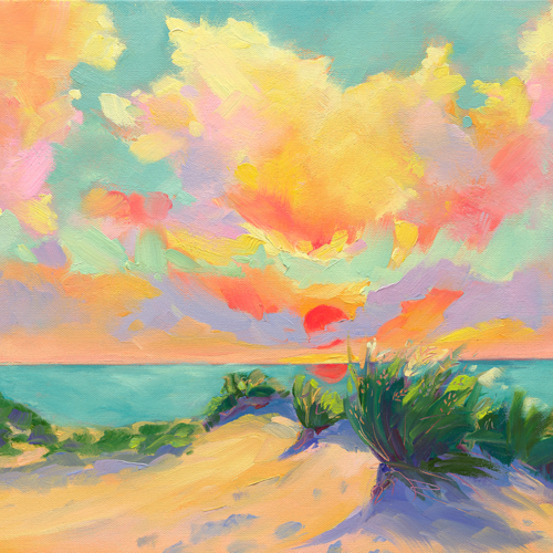 Sun in Our Eyes painting by Stephanie Schlatter