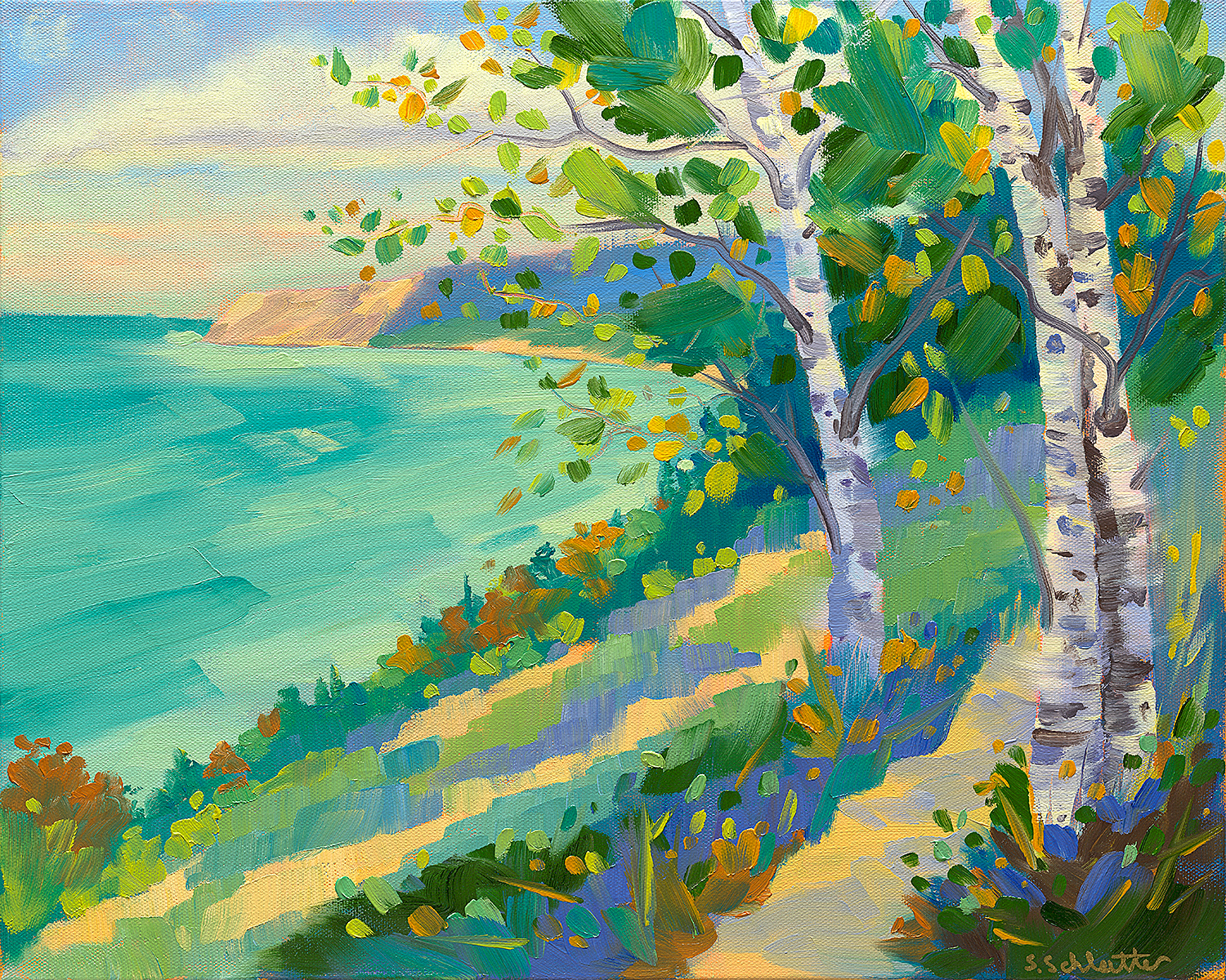 A Heavenly View Painting by Stephanie Schlatter