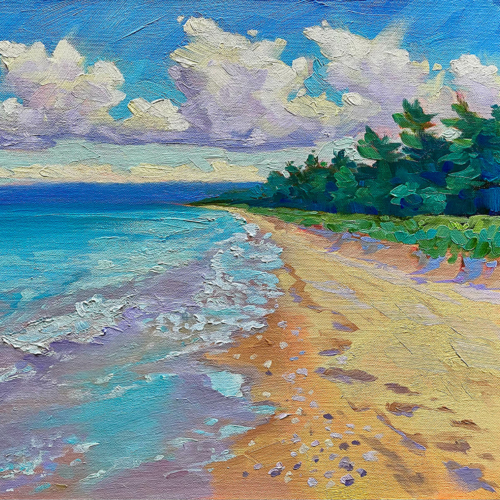 Lake Michigan Coast painting by Stephanie Schlatter