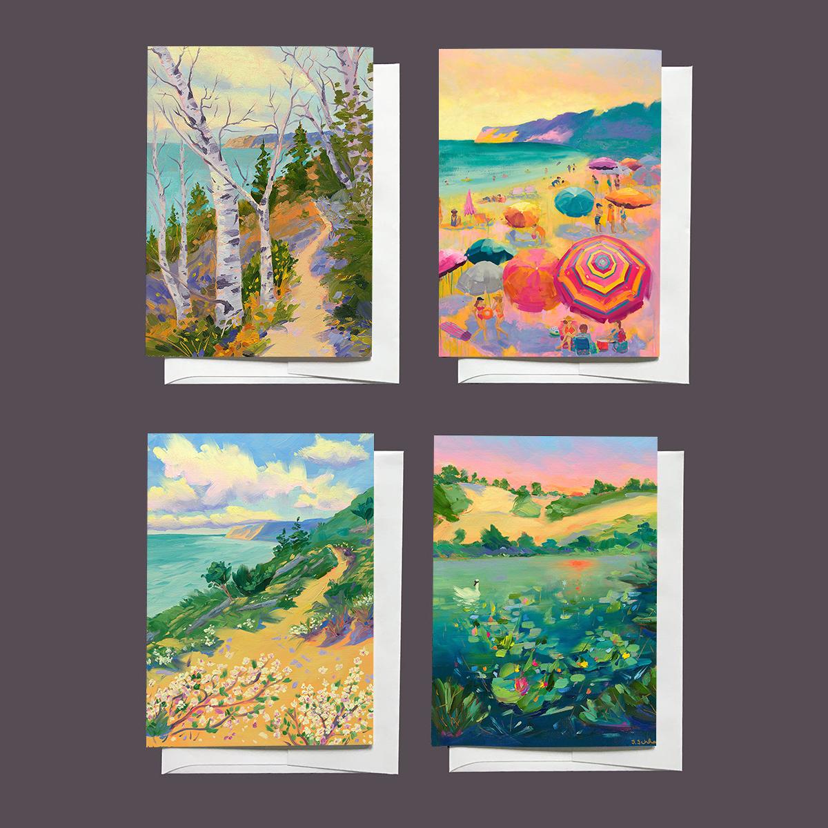 Sleeping Bear Dunes Notecards Series 3 by Stephanie Schlatter