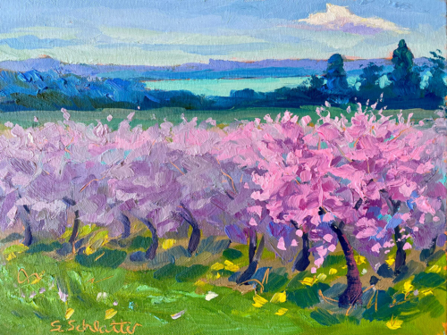 Peace Blossom Boogie painting by Stephanie Schlatter