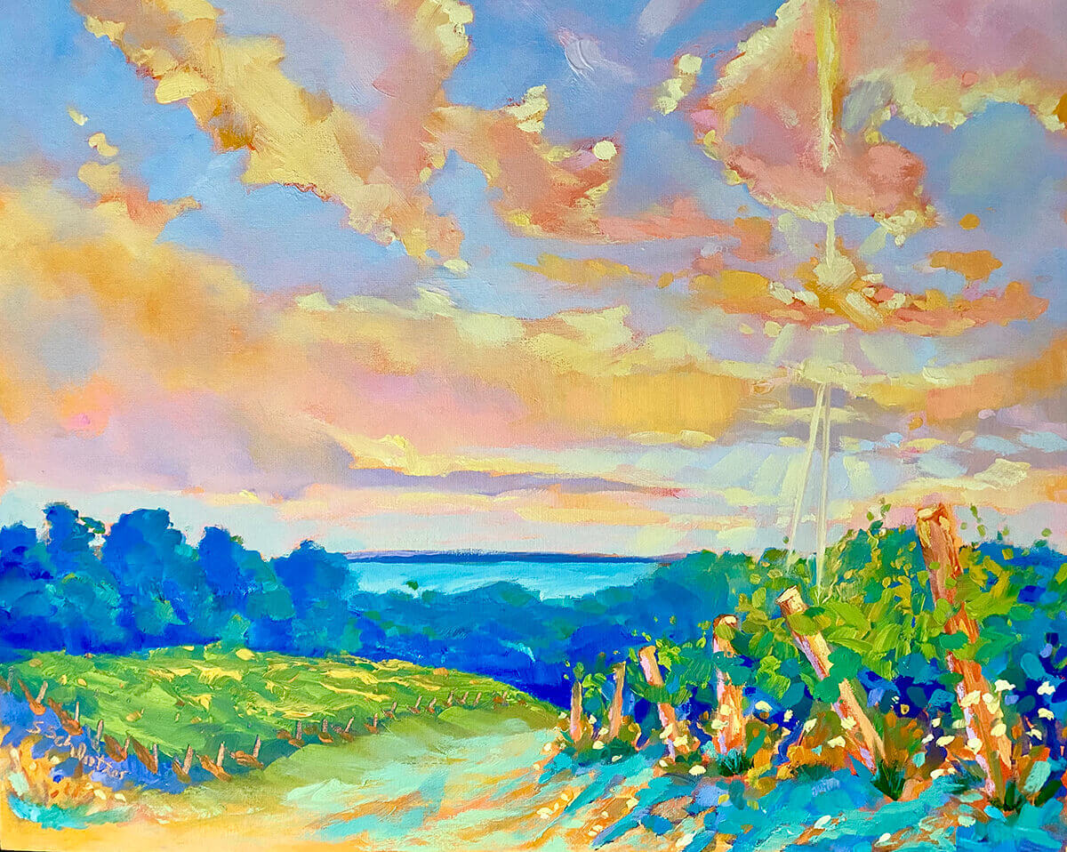Rise to the Sun painting by Stephanie Schlatter