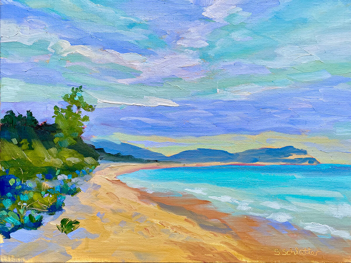 The Bay Painting by Stephanie Schlatter