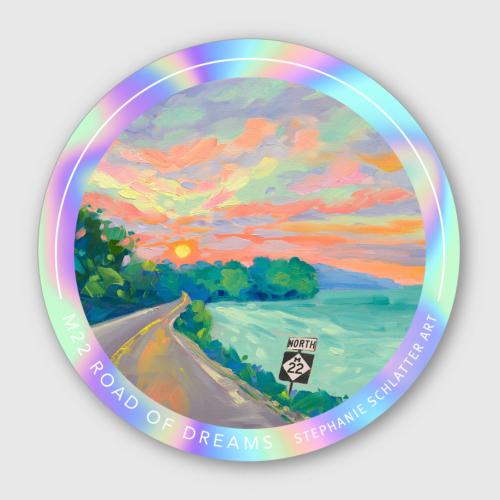 M22 Sticker Road of Dreams by Stephanie Schlatter