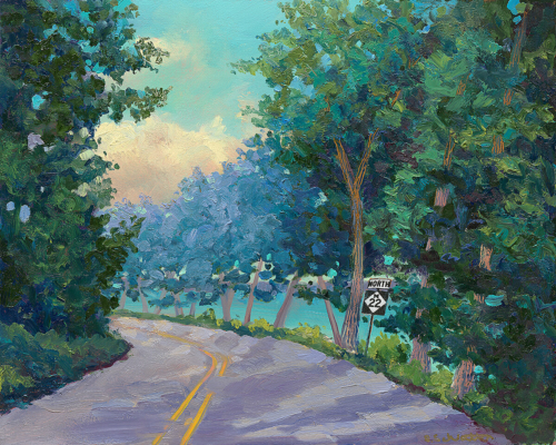 On the Road painting by Stephanie Schlatter