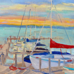 Docked painting by Stephanie Schlatter