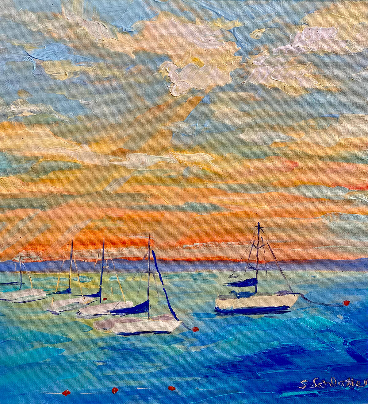 Harbor Life painting by Stephanie Schlatter