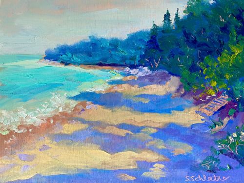 Lakeshore painting by Stephanie Schlatter