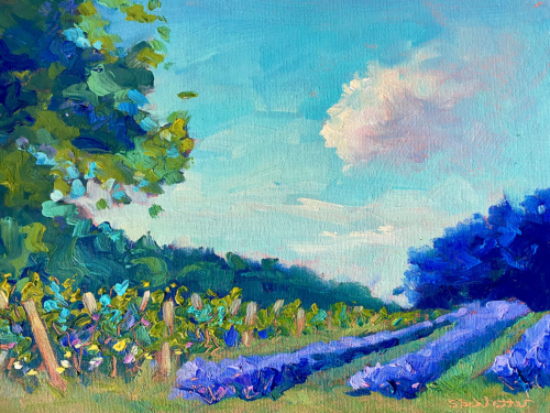 Lavender Kiss painting by Stephanie Schlatter