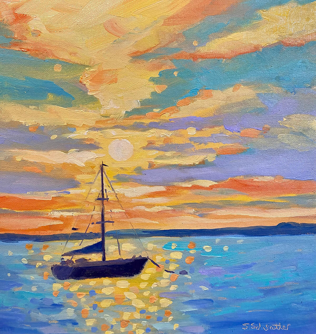 One Particular Harbor painting by Stephanie Schlatter