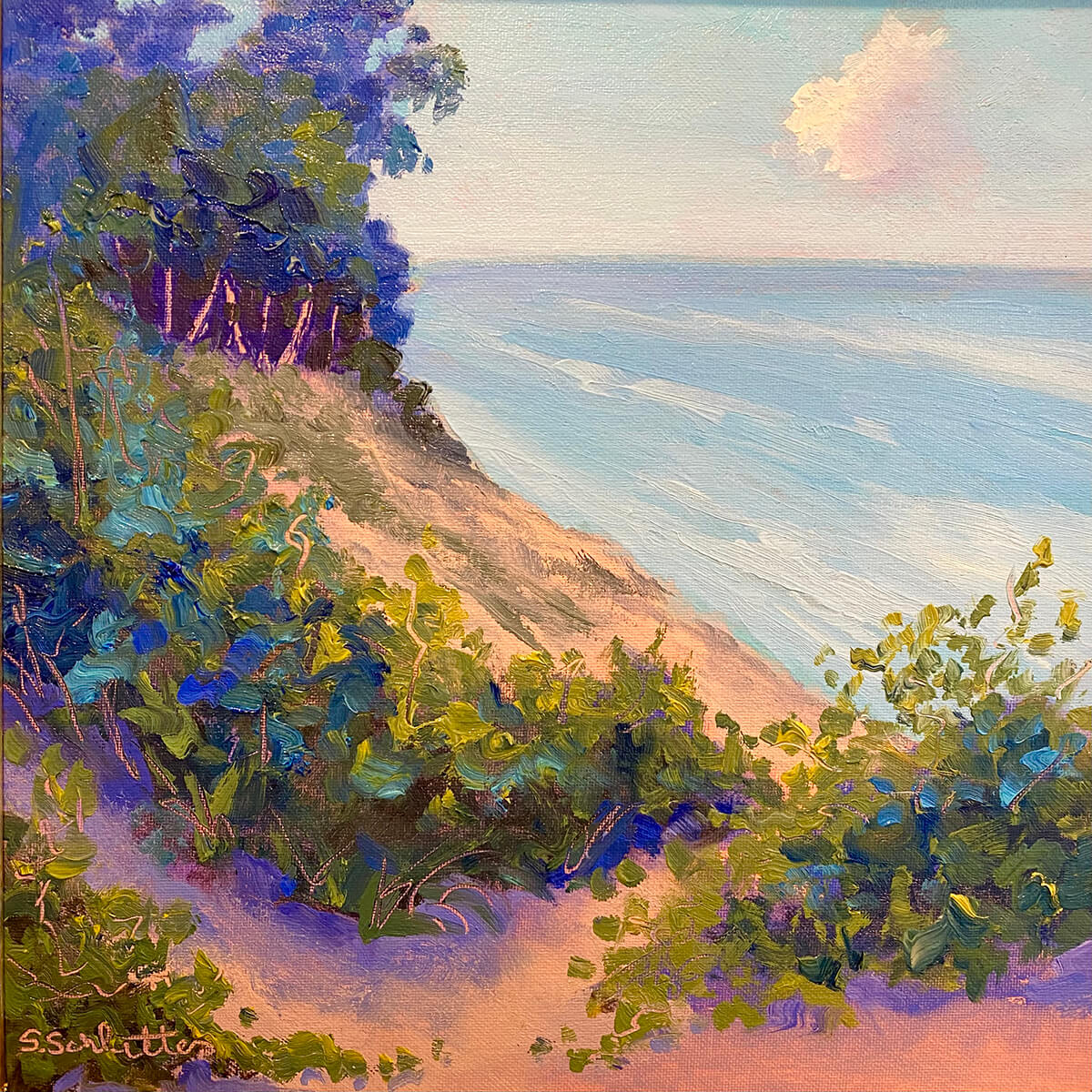 Pyramid Point II painting by Stephanie Schlatter