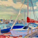 Same Boat painting by Stephanie Schlatter