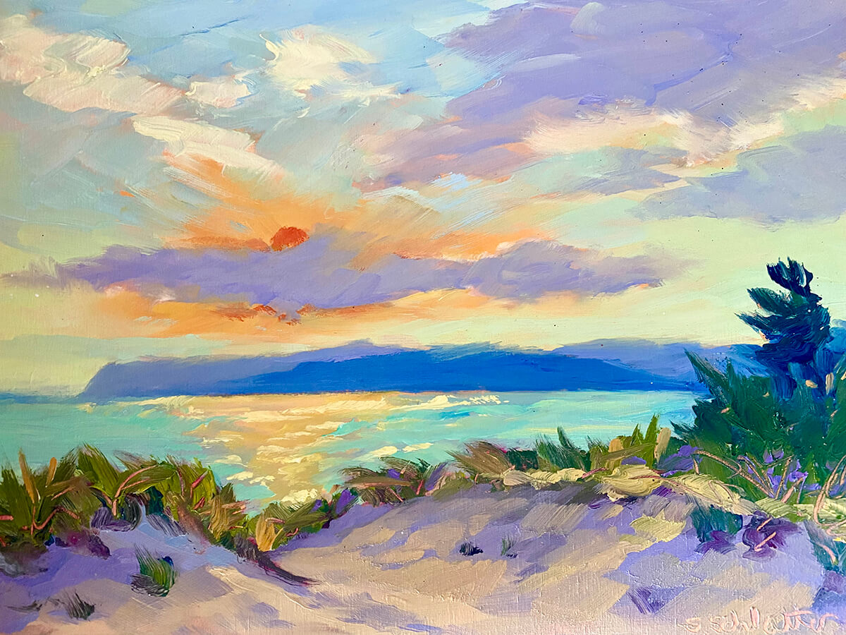 Sunset Lullaby painting by Stephanie Schlatter